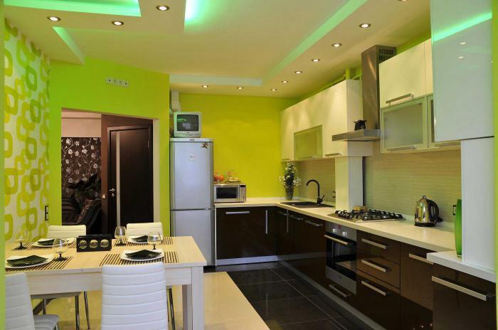 Дизайн кухни из гипсокартона фото