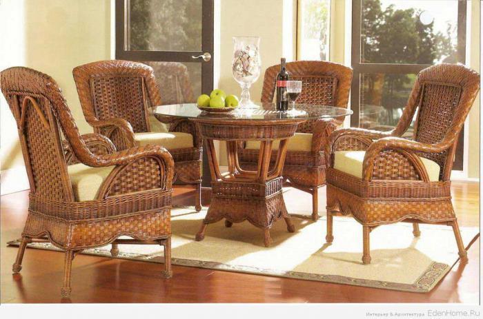 Плетеная мебель ротанг ротанга