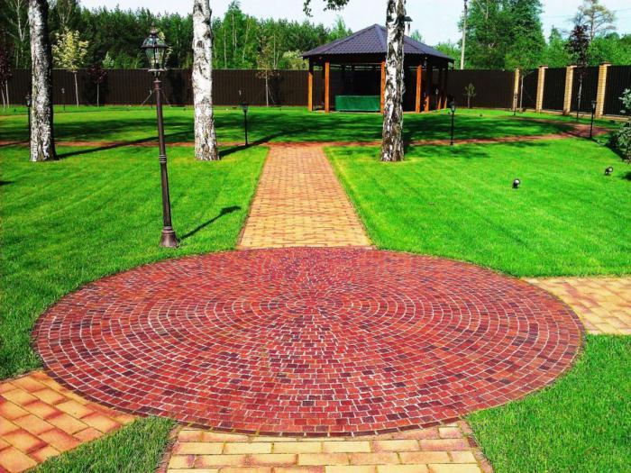 Дизайн садовых дорожек из тротуарной плитки